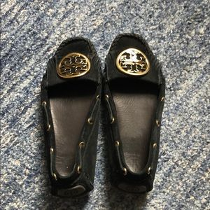 Tory Burch moccasin loafers, black, size 7.5